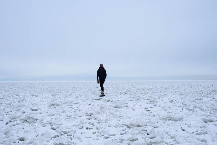 lake erie frozen ohio