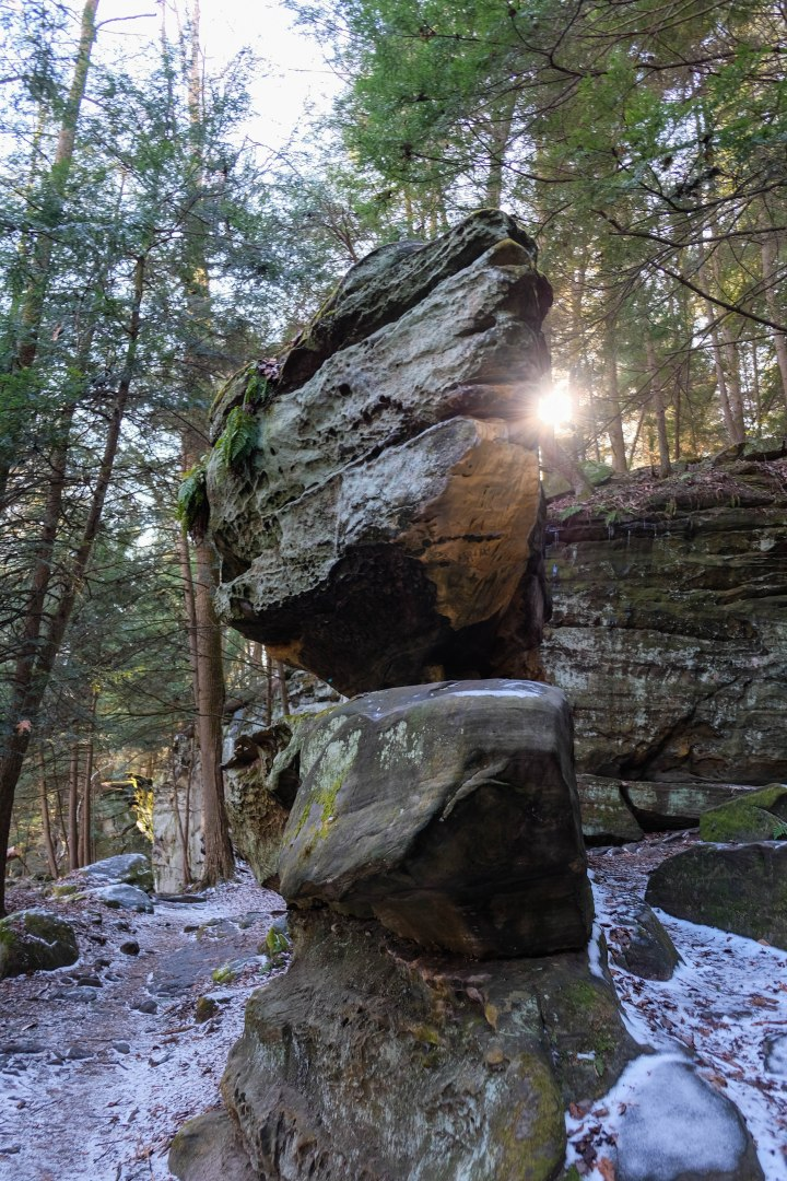 cuyahoga valley national park ledges ohio