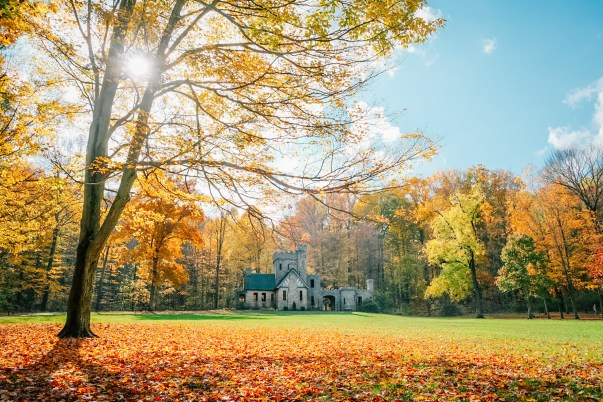 north chagrin reservation best fall hikes near cleveland