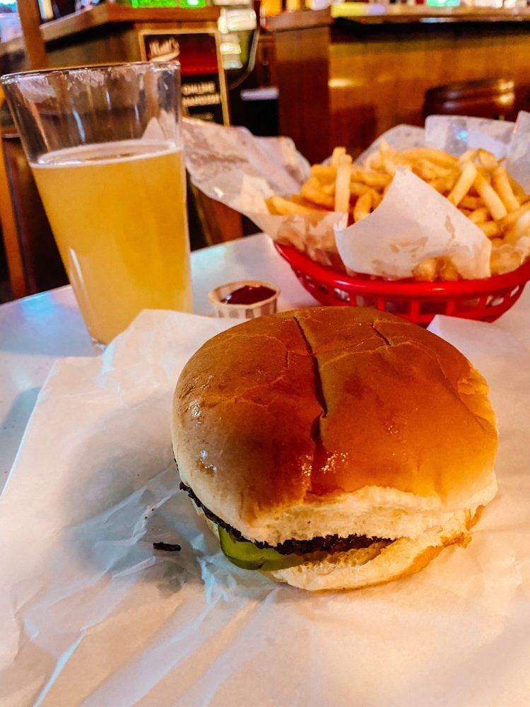 Matt's bar in Minneapolis Minnesota. Juicy Lucy burger, fries and a beer