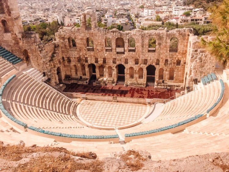 Archaeological sites in one of the best places to visit in Greece, Athens.