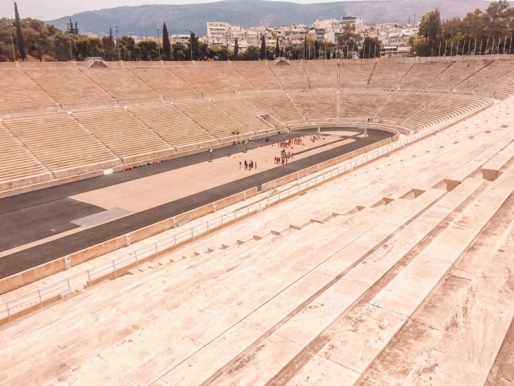 The Olympic stadium located in one of the best places to visit in Greece, Athens