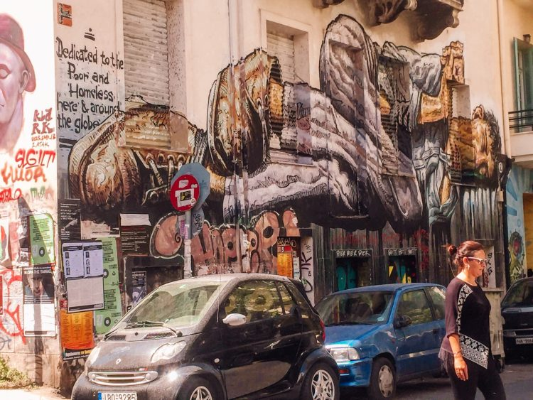 street art located in Athens Greece