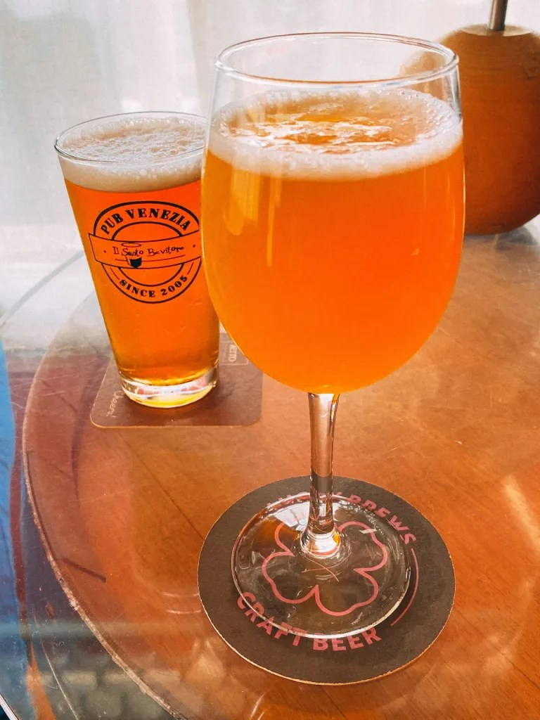 Craft Beers at Il Santo Bevitore craft beer bar in Venice Italy