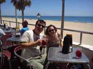 Beach bar in Andalusia, tinto de verano