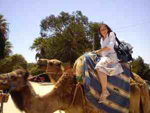 Riding a camel in Tangier, Day Trip to Tangier