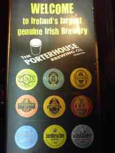 Porterhouse beers, 5 best pubs in Dublin