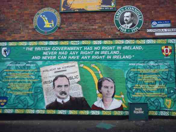 Political mural near James Connolly's house in Belfast, things to do in Belfast