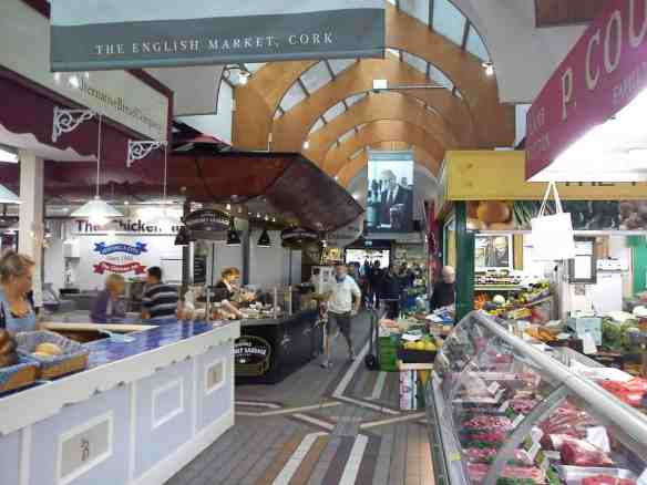 many stalls of Cork's English market