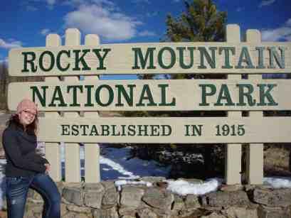 Entrance sign, rocky mountain national park