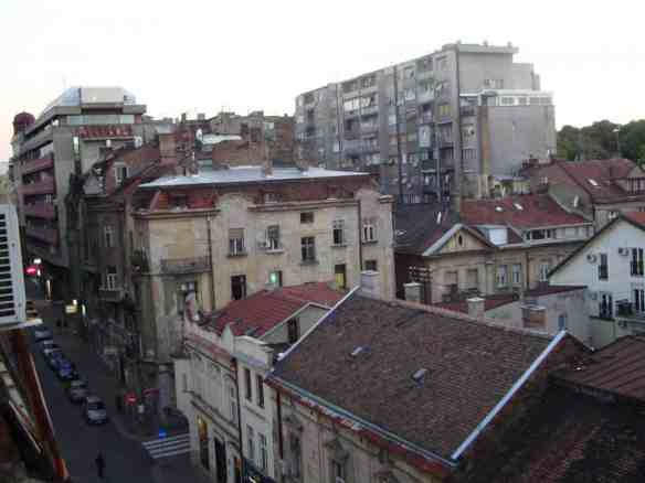 """View of Belgrade from the """"Royal Hotel. American in Belgrade"""