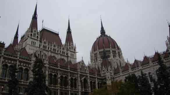 close up of the Budapest parliament