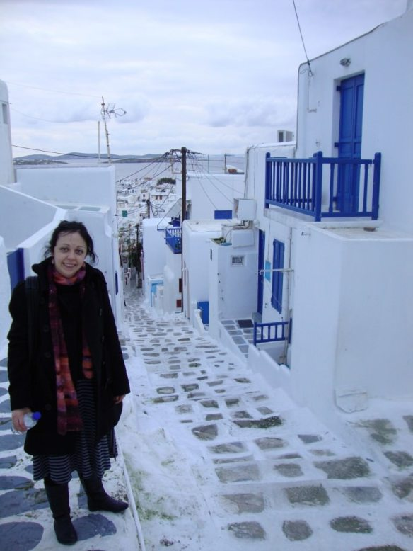 The unique pedestrian only streets of Mykonos