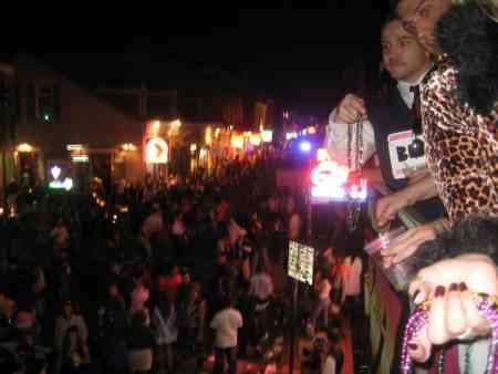 Halloween night on Bourbon Street, New Orleans