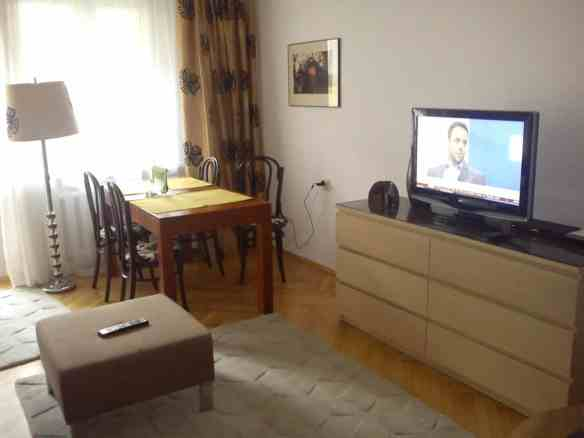 Only-apartments living room in Krakow, Tips on Areas to Stay in Krakow