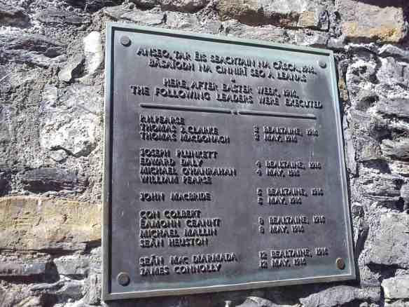memorial to Easter Rising at Kilmainham Jail