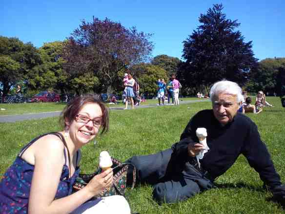 Ice cream on a lovely sunny day in Dublin's Phoenix Park...proof that climate change exists.