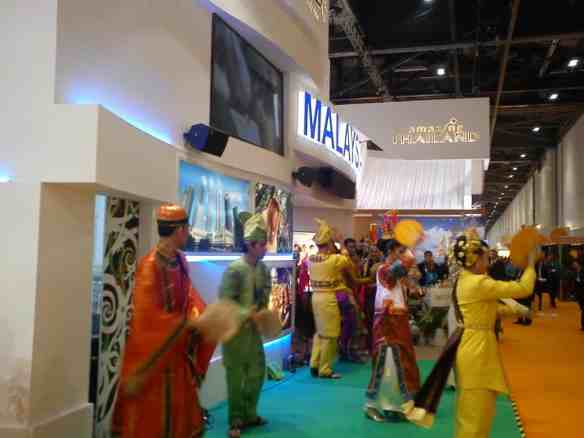 Malaysians in traditional dress at World Travel Market in London, 2013