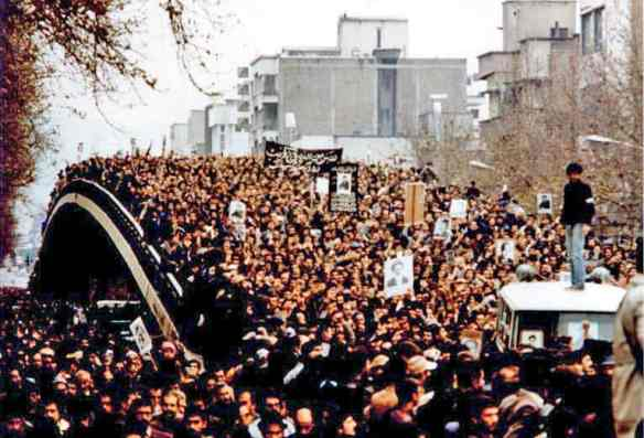 Mass demonstration in Tehran http://en.wikipedia.org/wiki/File:Mass_demonstration.jpg
