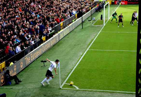 Fulham Corner Kick at Craven Cottage
