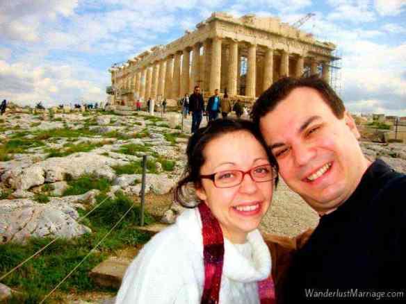 Athens-Parthenon on Acropolis