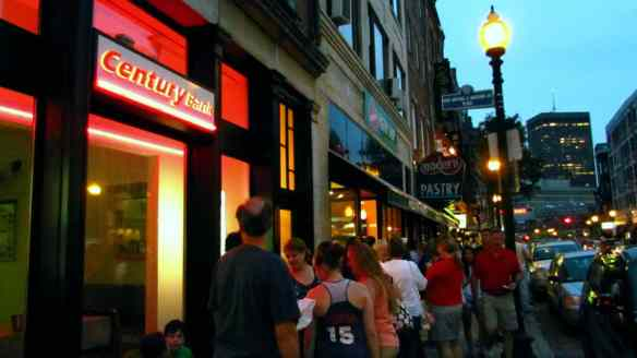 Bostonians are happy to queue outside for tasty cannelloni and other treats.