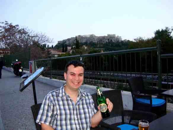 Beer in Monasteraki in Athens