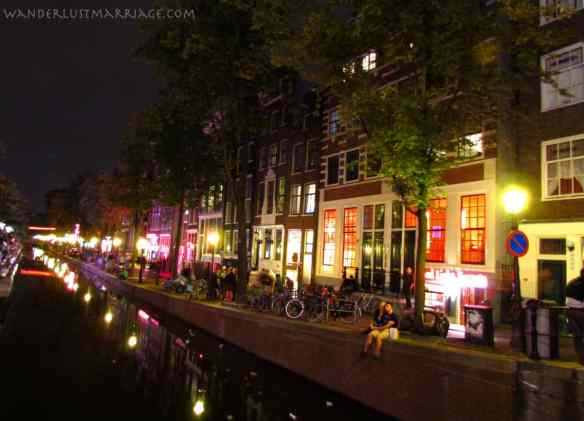 Amsterdam, the Redlight District at night