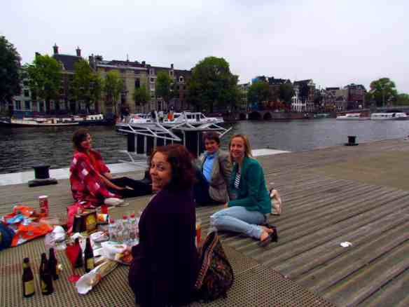 Amsterdam- Amstel Picnic at Hermitage Museum Boat Dock