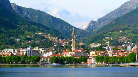 Lecco, where we stayed in a beautiful lakeside hotel for half the price of the equivalent quality in Bellagio.
