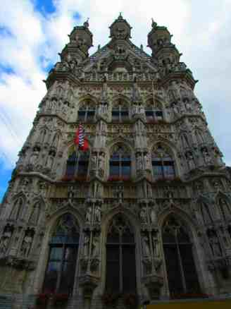 Leuven's Town Hall features typical Belgian architecture.