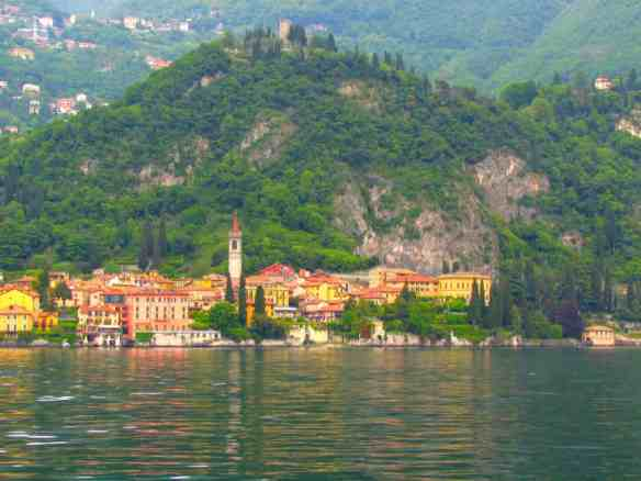 The beautiful town of Varenna, from the ferry returning from Bellagio.