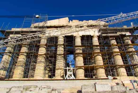 Parthenon scaffolding