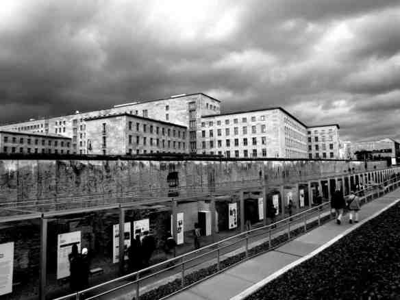 Berlin's Luftwaffe, the old Nazi Air Force headquarters that was incredibly never bombed and today houses the German treasury.