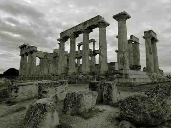Temple of Aiphaia on the island of Aegina, Greece.