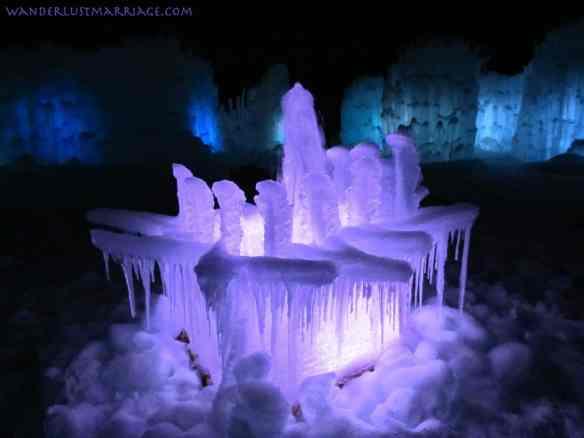 Ice Castle fountain