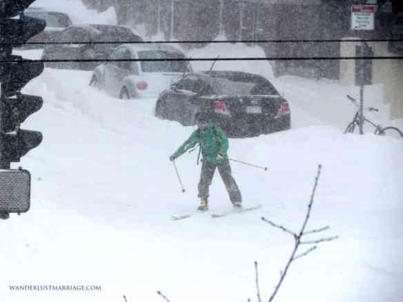 Cross country skiing in Boston