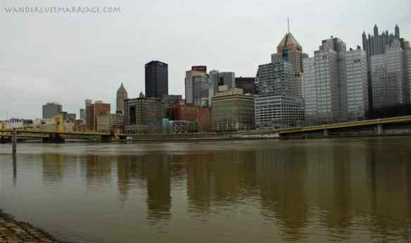 Downtown Pittsburgh, 10 year wedding anniversary