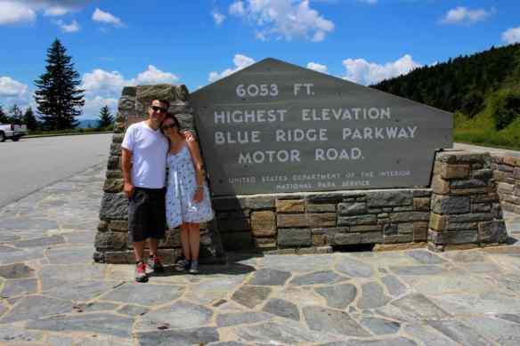 Blue Ridge Mountain Highest Elevation Sign