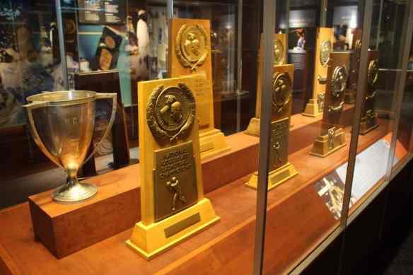 Carolina Basketball Museum, Tar Heel championship trophies