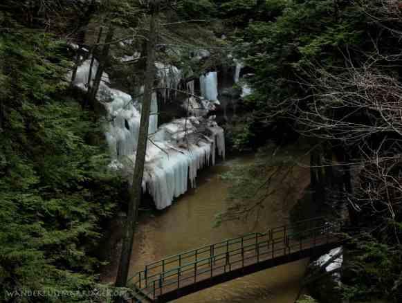 Cedar Falls, frozen waterfall, Hocking Hills, Ohio