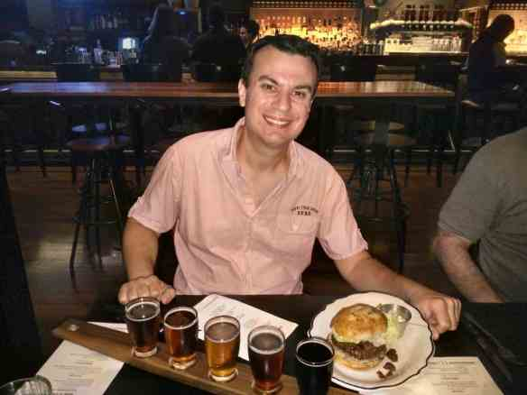 Cask and Larder beer tray, where to eat and drink in orlando