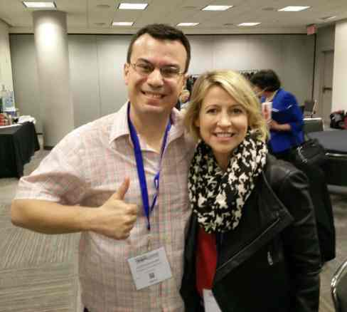 With long time Travel Channel TV show host Samantha Brown.