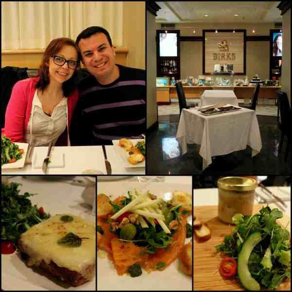 Birks cafe, Romantic Getaway Montreal