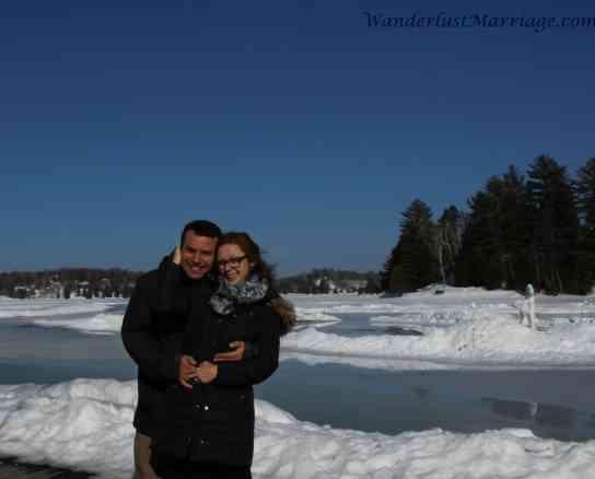 Frozen lake, Esterel, Laurentides, Anniversary Esterel Resort Quebec