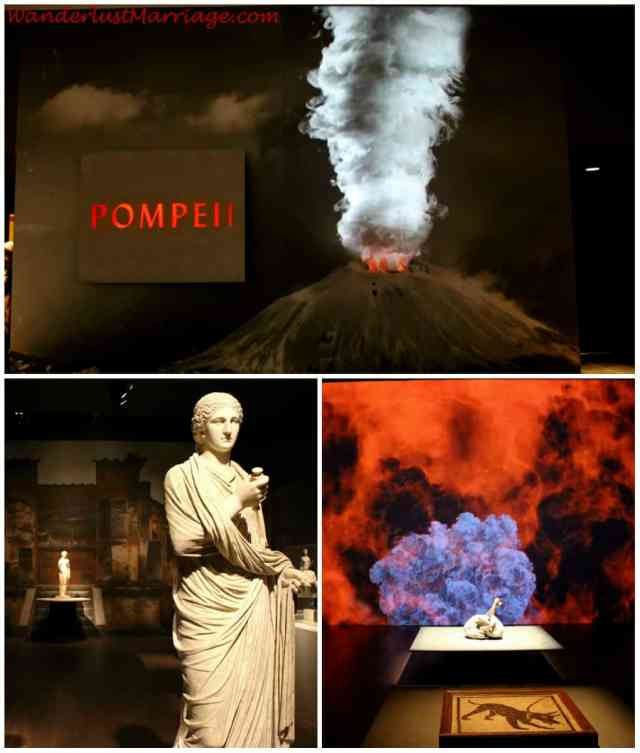 collage - Pompeii exhibit