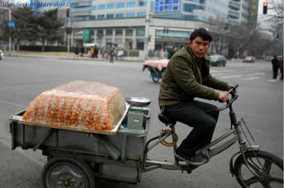 Chinese man on a bike, People of Beijing