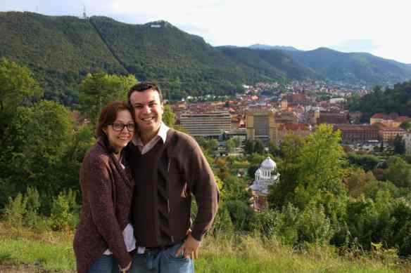 Brasov, Transylvania, Romania, romantic moment from above
