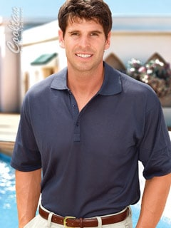 Tan Through men's polo shirt