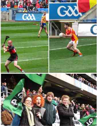 Collage of Gaelic football and hurling in Dublin